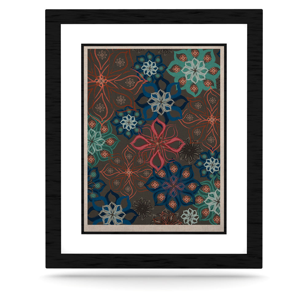 "Jolene Heckman ""Floral Arrangements"" Brown Flowers KESS Naturals Canvas (Frame not Included) - KESS InHouse  - 1"
