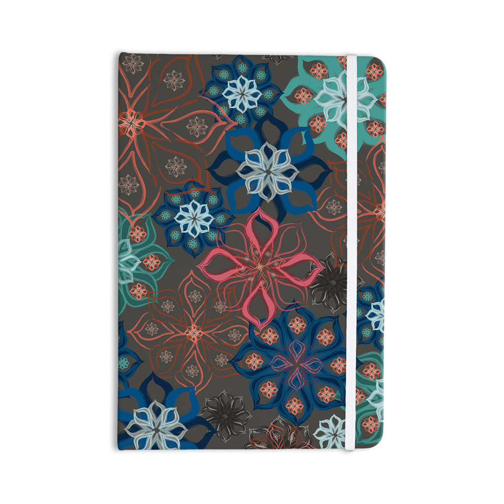 "Jolene Heckman ""Floral Arrangements"" Brown Flowers Everything Notebook - KESS InHouse  - 1"