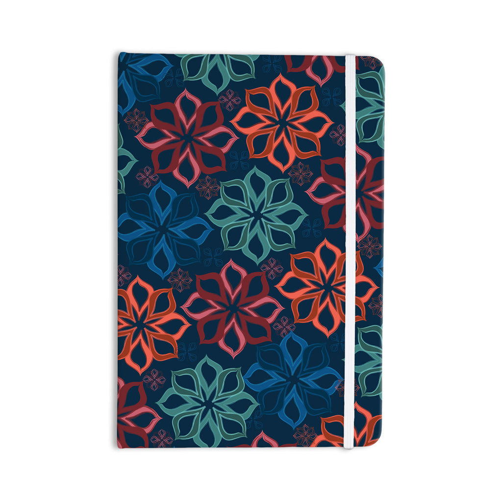 "Jolene Heckman ""Floral Charm"" Blue Flowers Everything Notebook - KESS InHouse  - 1"