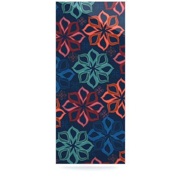 "Jolene Heckman ""Floral Charm"" Blue Flowers Luxe Rectangle Panel - KESS InHouse  - 1"