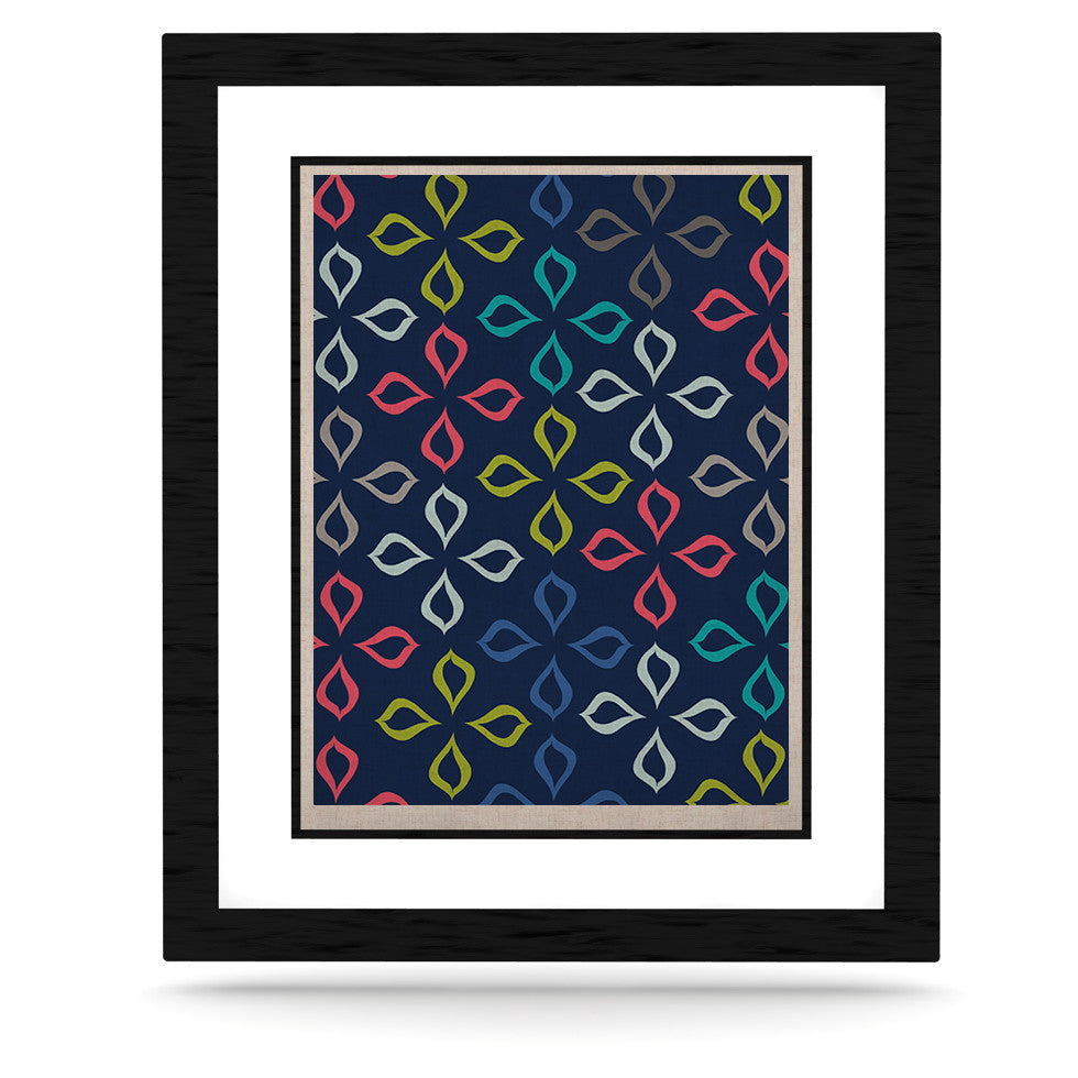 "Jolene Heckman ""Simple Flower"" Blue Flowers KESS Naturals Canvas (Frame not Included) - KESS InHouse  - 1"