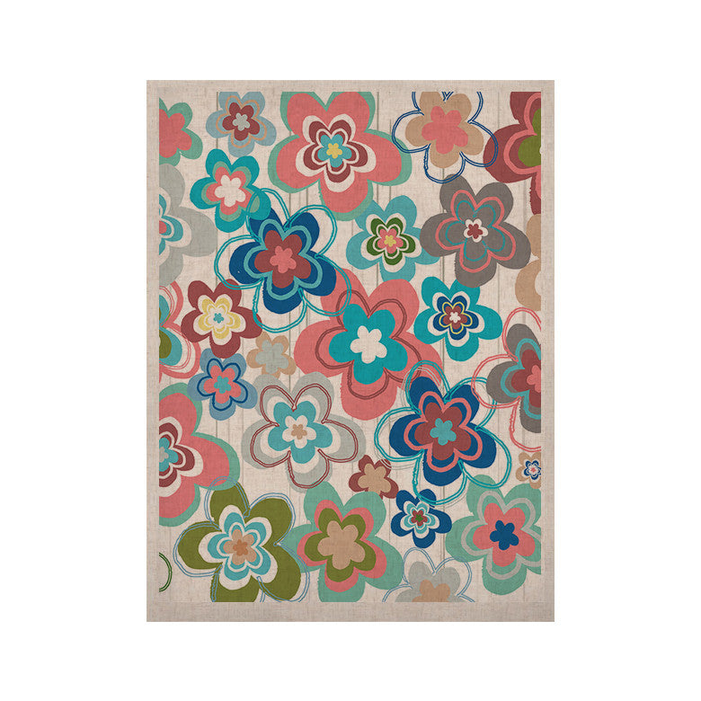 "Jolene Heckman ""A Marsala Morning"" Multicolor Floral KESS Naturals Canvas (Frame not Included) - KESS InHouse  - 1"