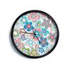"Jolene Heckman ""A Marsala Morning"" Multicolor Floral Modern Wall Clock"