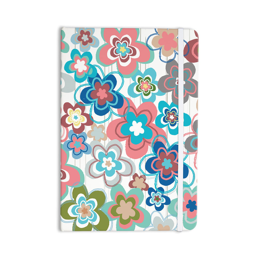 "Jolene Heckman ""A Marsala Morning"" Multicolor Floral Everything Notebook - KESS InHouse  - 1"