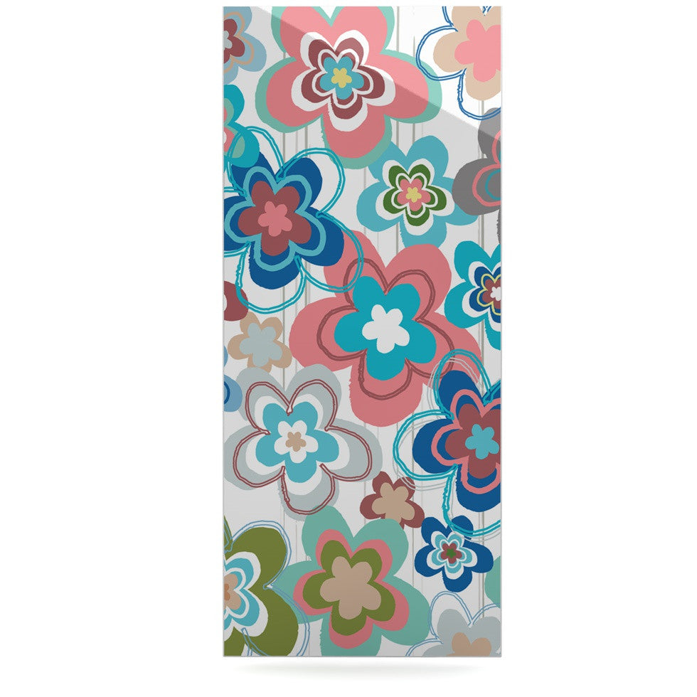 "Jolene Heckman ""A Marsala Morning"" Multicolor Floral Luxe Rectangle Panel - KESS InHouse  - 1"