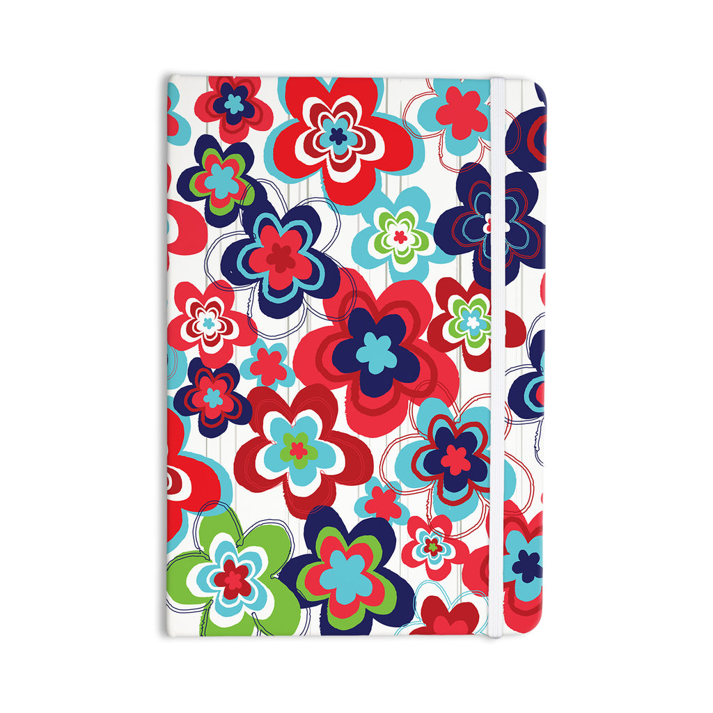 "Jolene Heckman ""A Cheerful Morning"" Blue Red Everything Notebook - KESS InHouse  - 1"