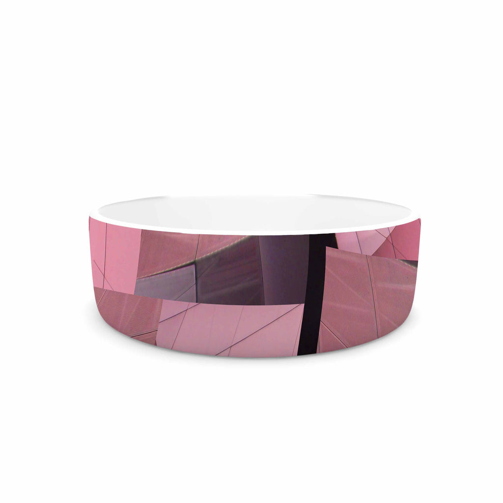 "Tiny September ""Pink Flamingo"" Pink Black Digital Pet Bowl"