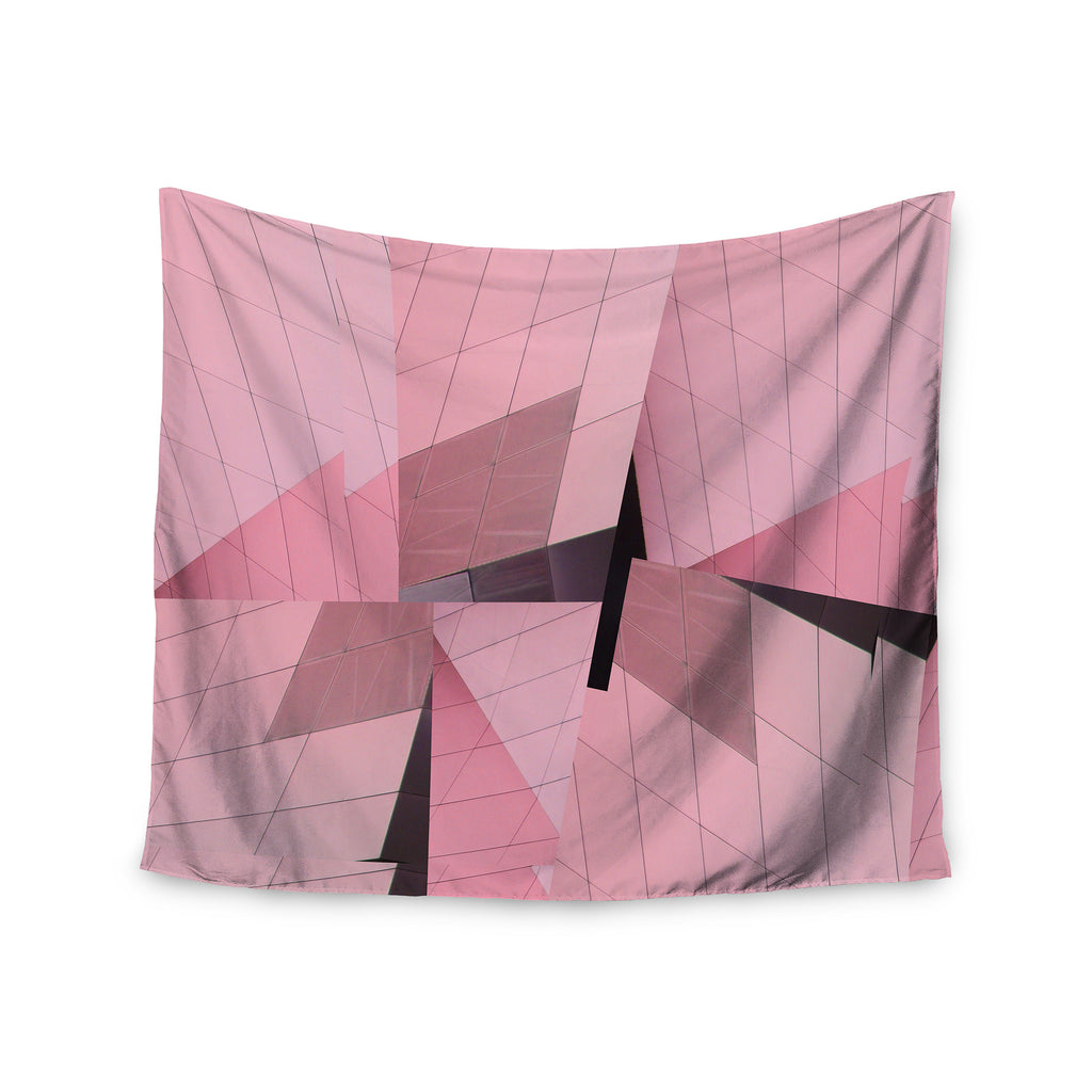 "Tiny September ""Pink Flamingo"" Pink Black Digital Wall Tapestry - KESS InHouse  - 1"