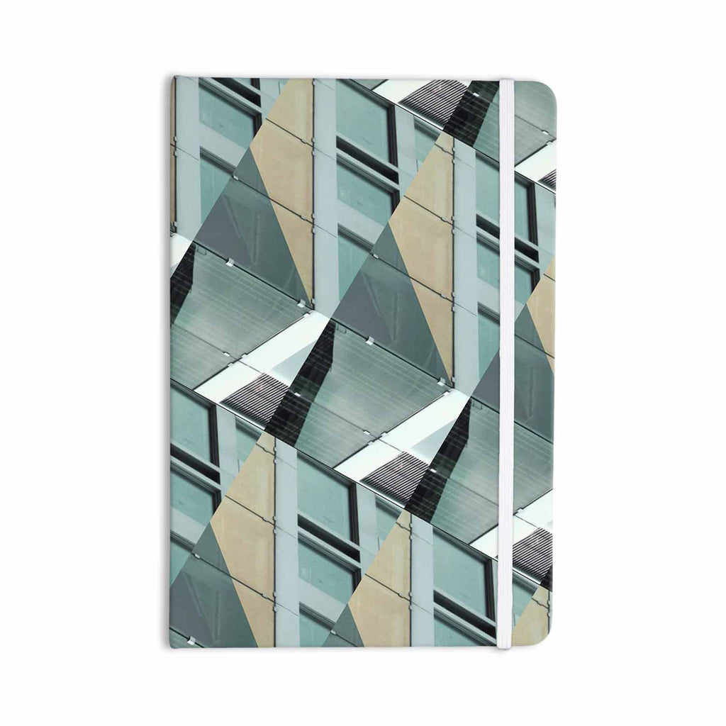 "Tiny September ""Diagonal Arrows"" Beige Blue Photography Everything Notebook - KESS InHouse  - 1"