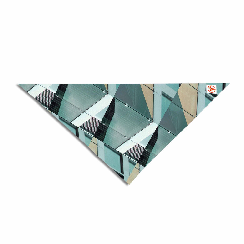 "Tiny September ""Diagonal Arrows"" Beige Blue Photography Pet Bandana"