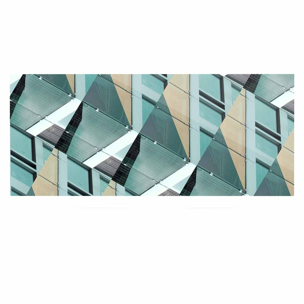 "Tiny September ""Diagonal Arrows"" Beige Blue Photography Luxe Rectangle Panel"