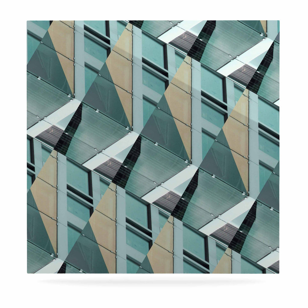 "Tiny September ""Diagonal Arrows"" Beige Blue Photography Luxe Square Panel"