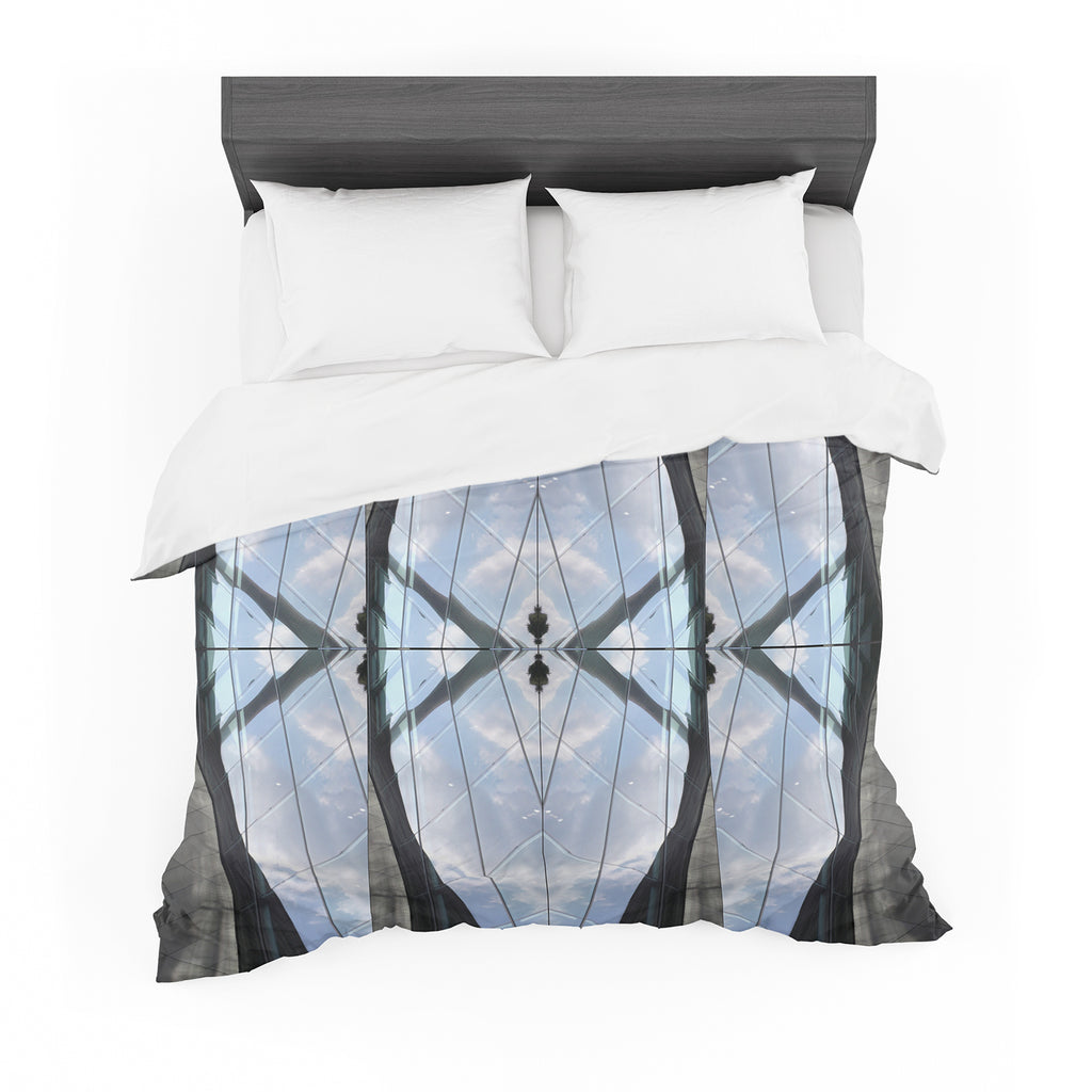 "Tiny September ""Butterfly Glass"" Blue Black Photography Featherweight Duvet Cover"