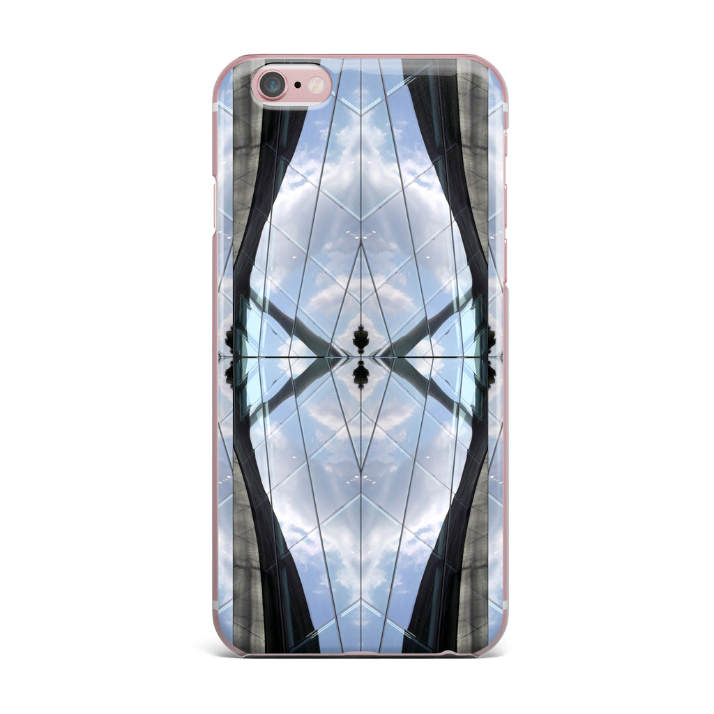 "Tiny September ""Butterfly Glass"" Blue Black Photography iPhone Case - KESS InHouse"