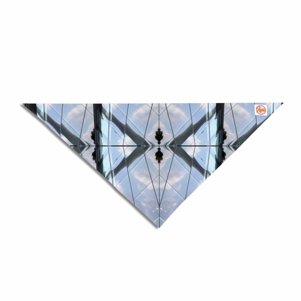 "Tiny September ""Butterfly Glass"" Blue Black Photography Pet Bandana"