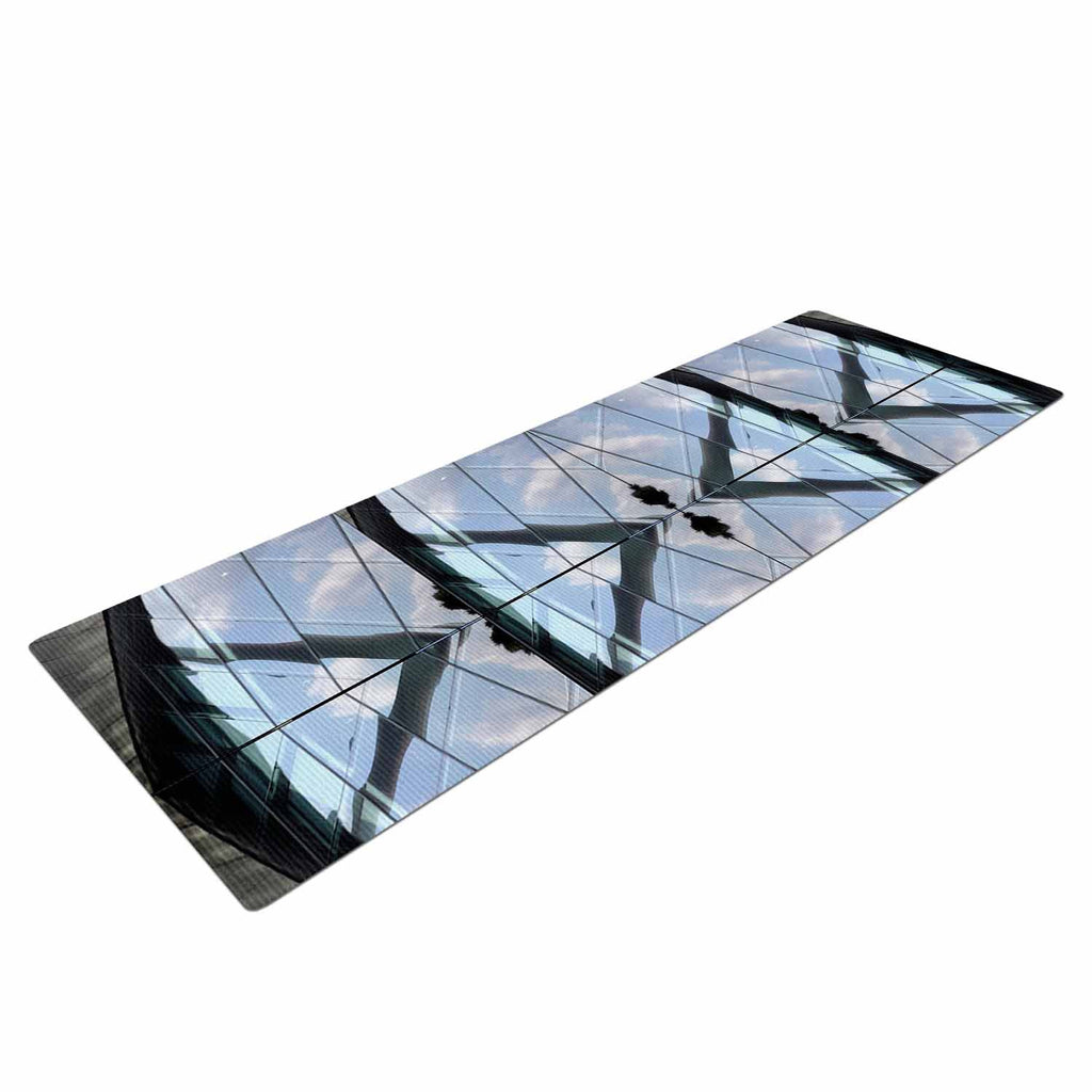 "Tiny September ""Butterfly Glass"" Blue Black Photography Yoga Mat"