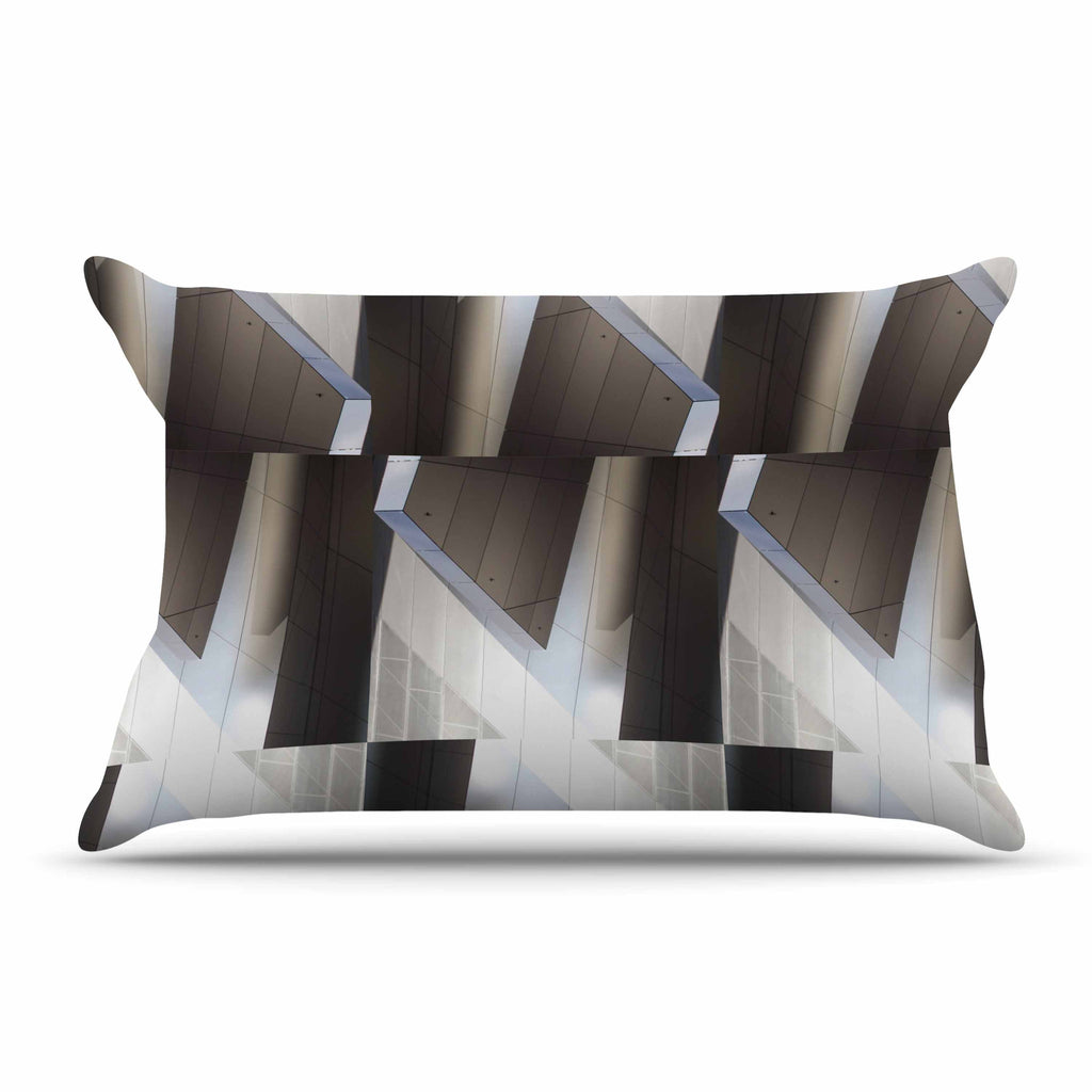 "Tiny September ""Architexture"" Gray White Photography Pillow Sham"