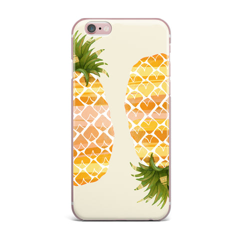 "Judith Loske ""Happy Pineapples "" Yellow Gold iPhone Case - KESS InHouse"