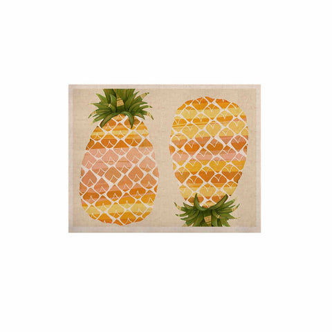 "Judith Loske ""Happy Pineapples "" Yellow Gold KESS Naturals Canvas (Frame not Included) - KESS InHouse  - 1"