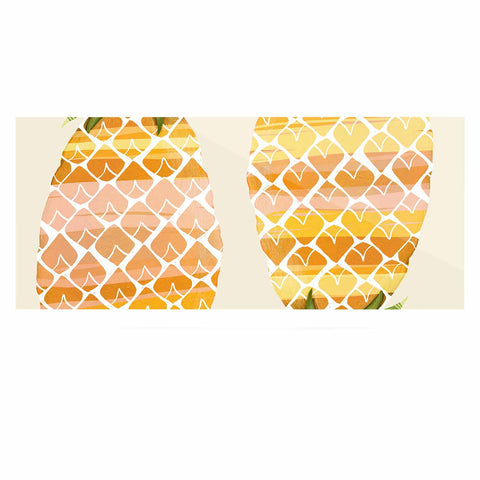 "Judith Loske ""Happy Pineapples "" Yellow Gold Luxe Rectangle Panel - KESS InHouse  - 1"