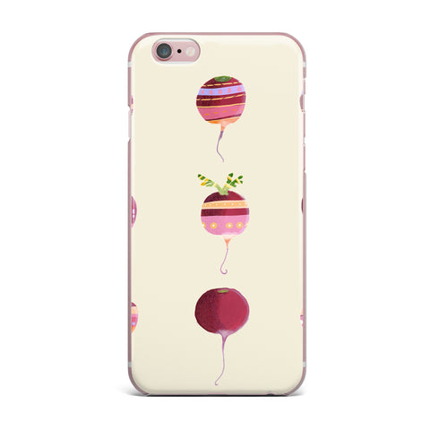 "Judith Loske ""Happy Radishes "" Ped Pink iPhone Case - KESS InHouse"