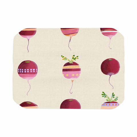 "Judith Loske ""Happy Radishes "" Ped Pink Place Mat - KESS InHouse"