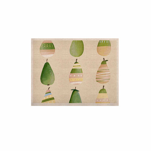 "Judith Loske ""Happy Pears"" Green Gold KESS Naturals Canvas (Frame not Included) - KESS InHouse  - 1"