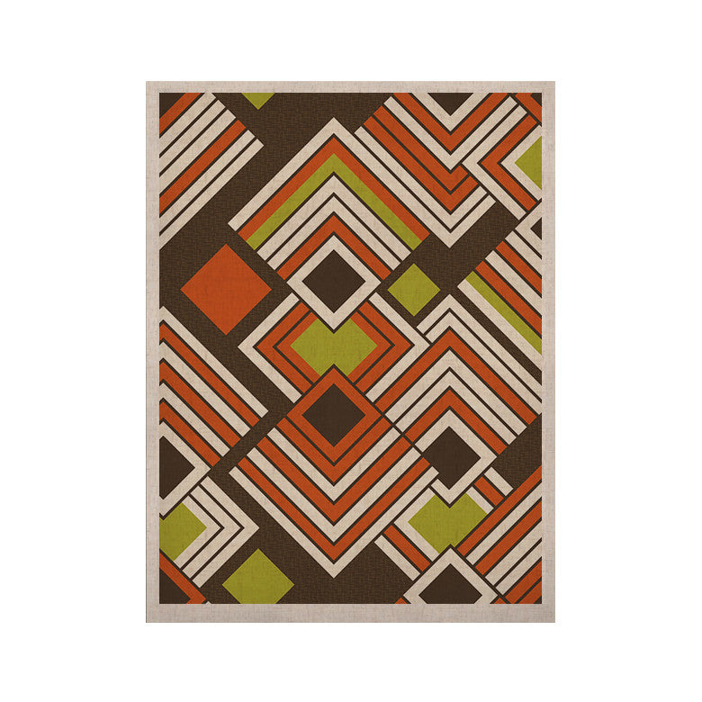 "Jacqueline Milton ""Luca - Coffee"" Brown Orange KESS Naturals Canvas (Frame not Included) - KESS InHouse  - 1"