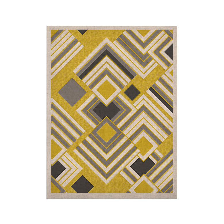 "Jacqueline Milton ""Luca - Gold"" Yellow Gray KESS Naturals Canvas (Frame not Included) - KESS InHouse"
