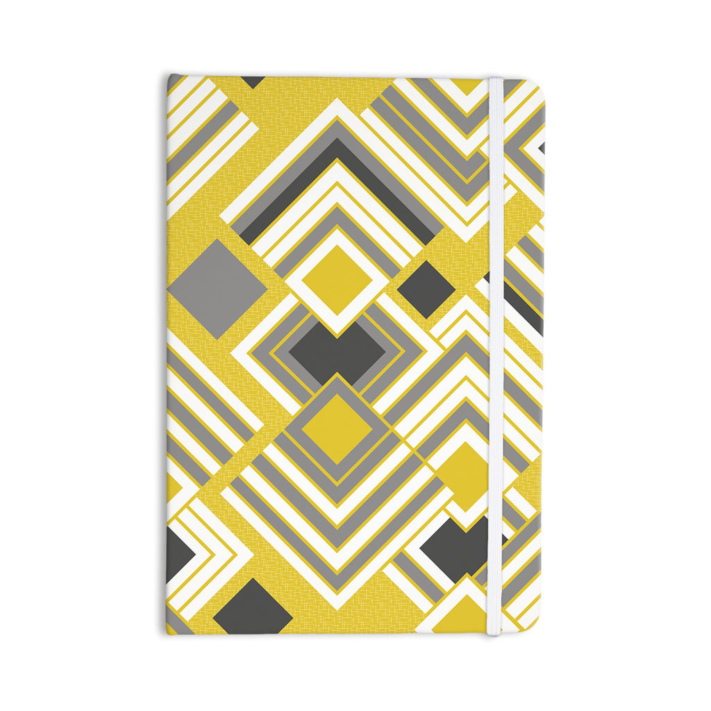 "Jacqueline Milton ""Luca - Gold"" Yellow Gray Everything Notebook - KESS InHouse"