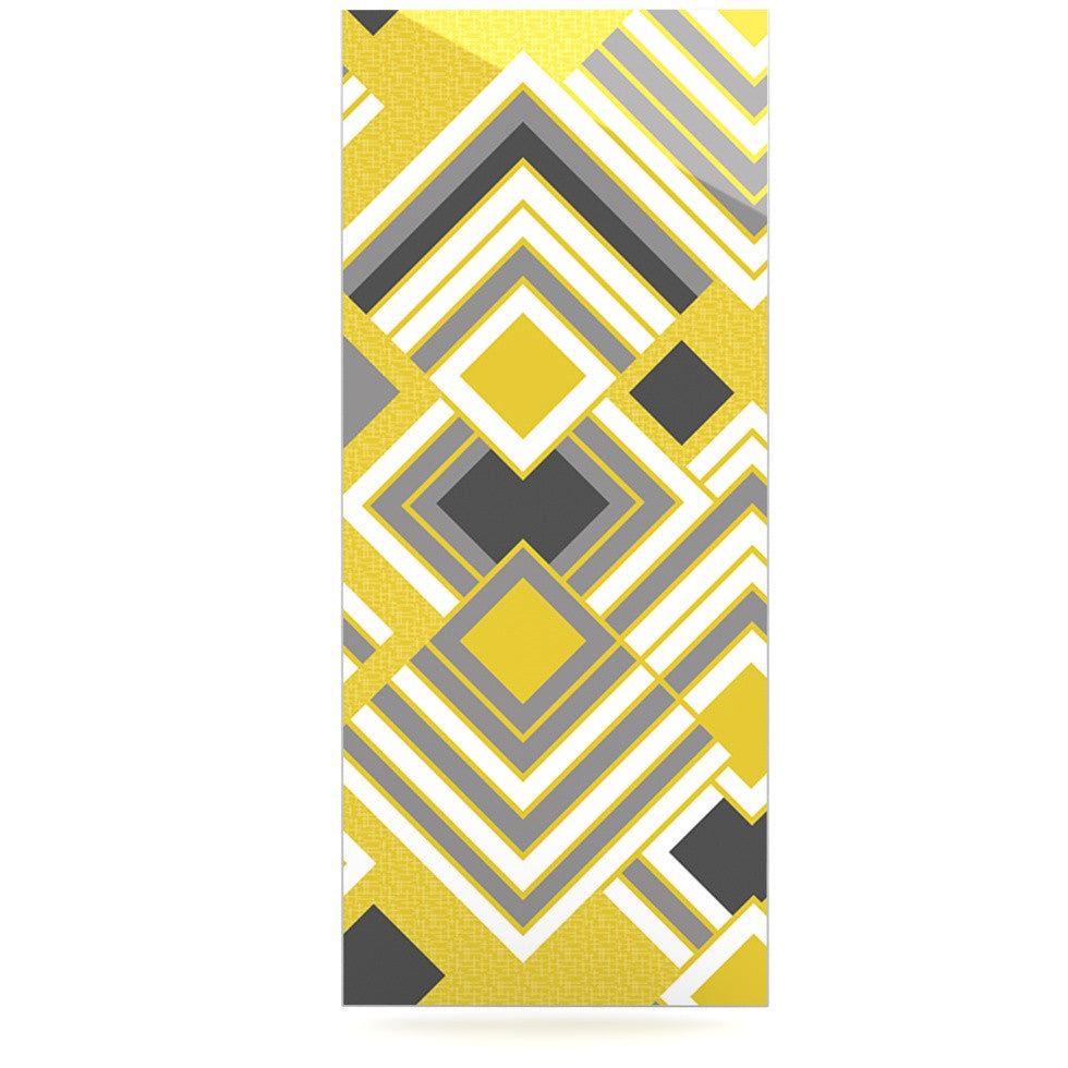 "Jacqueline Milton ""Luca - Gold"" Yellow Gray Luxe Rectangle Panel - KESS InHouse  - 1"