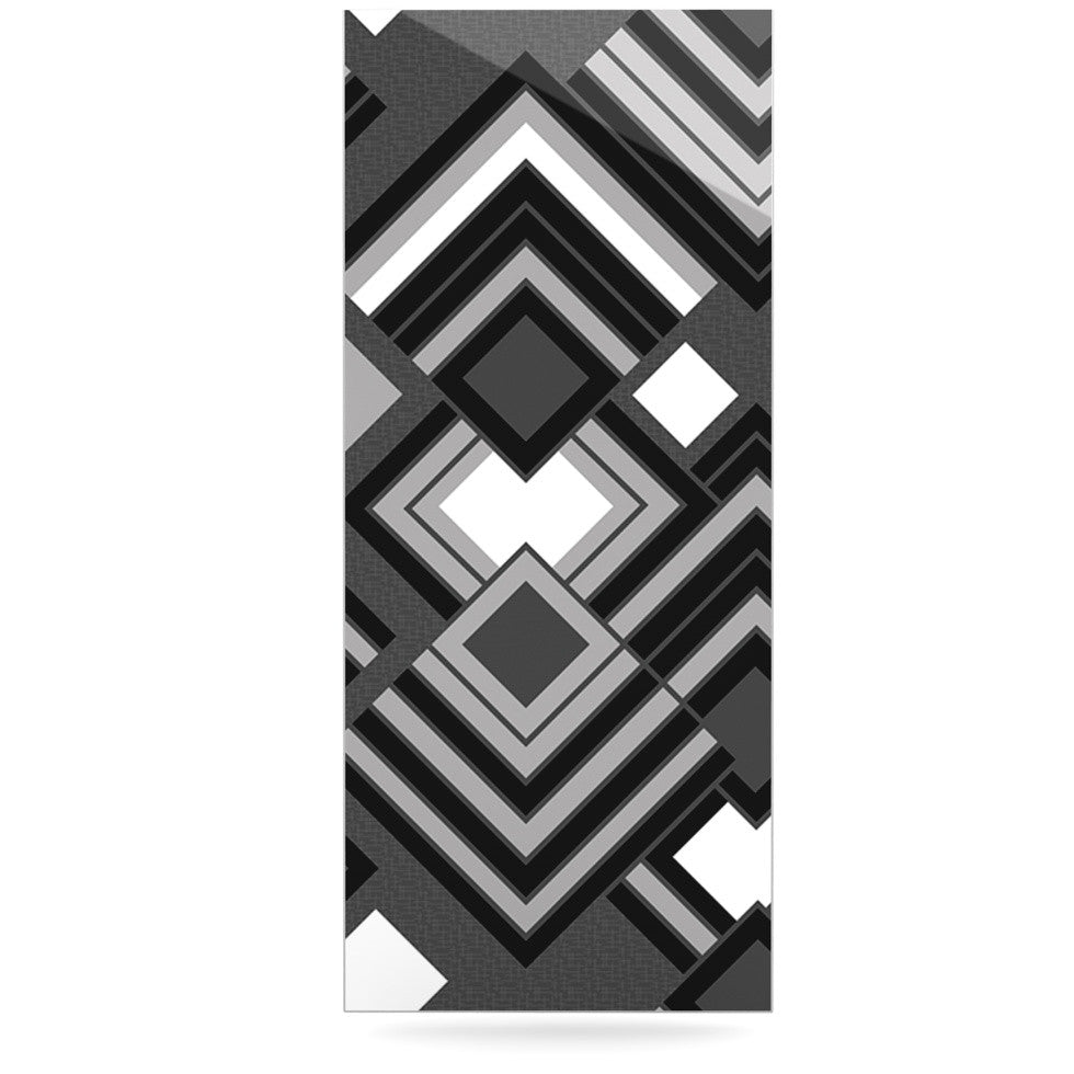 "Jacqueline Milton ""Luca - Monochrome"" Black White Luxe Rectangle Panel - KESS InHouse  - 1"