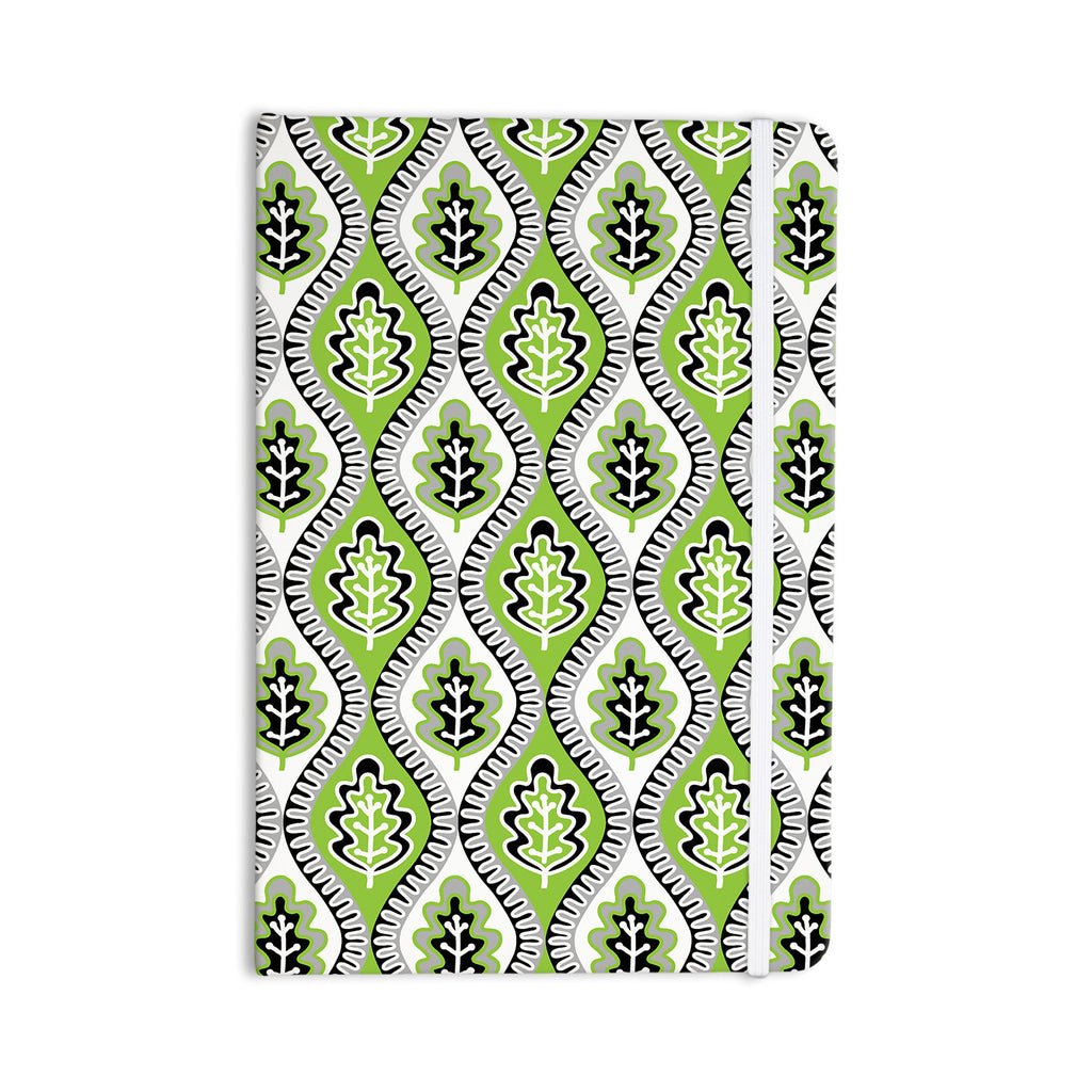 "Jacqueline Milton ""Oak Leaf - Lime"" Green Floral Everything Notebook - KESS InHouse  - 1"