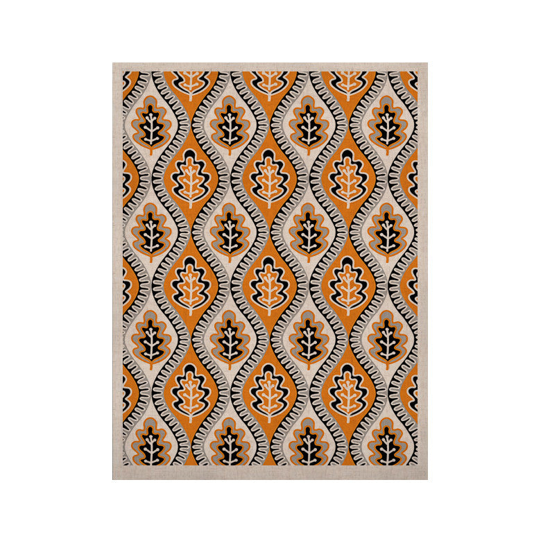 "Jacqueline Milton ""Oak Leaf - Orange"" Floral Orange KESS Naturals Canvas (Frame not Included) - KESS InHouse  - 1"