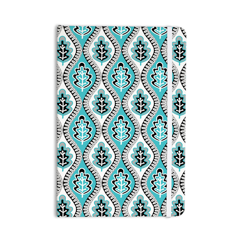 "Jacqueline Milton ""Oak Leaf - Turquoise"" Floral Blue Everything Notebook - KESS InHouse  - 1"