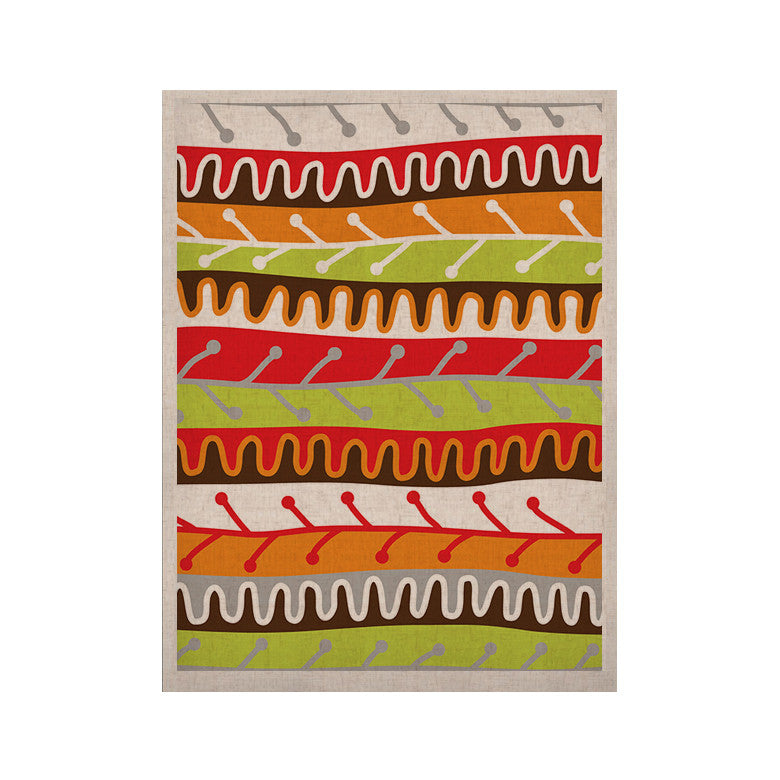 "Jacqueline Milton ""Salsa - Orange"" Yellow Red KESS Naturals Canvas (Frame not Included) - KESS InHouse  - 1"