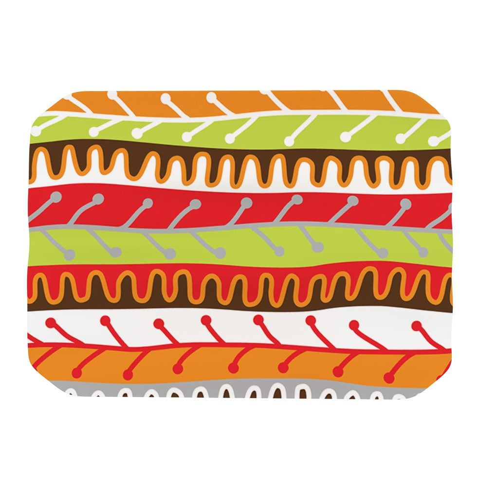 "Jacqueline Milton ""Salsa - Orange"" Yellow Red Place Mat - KESS InHouse"