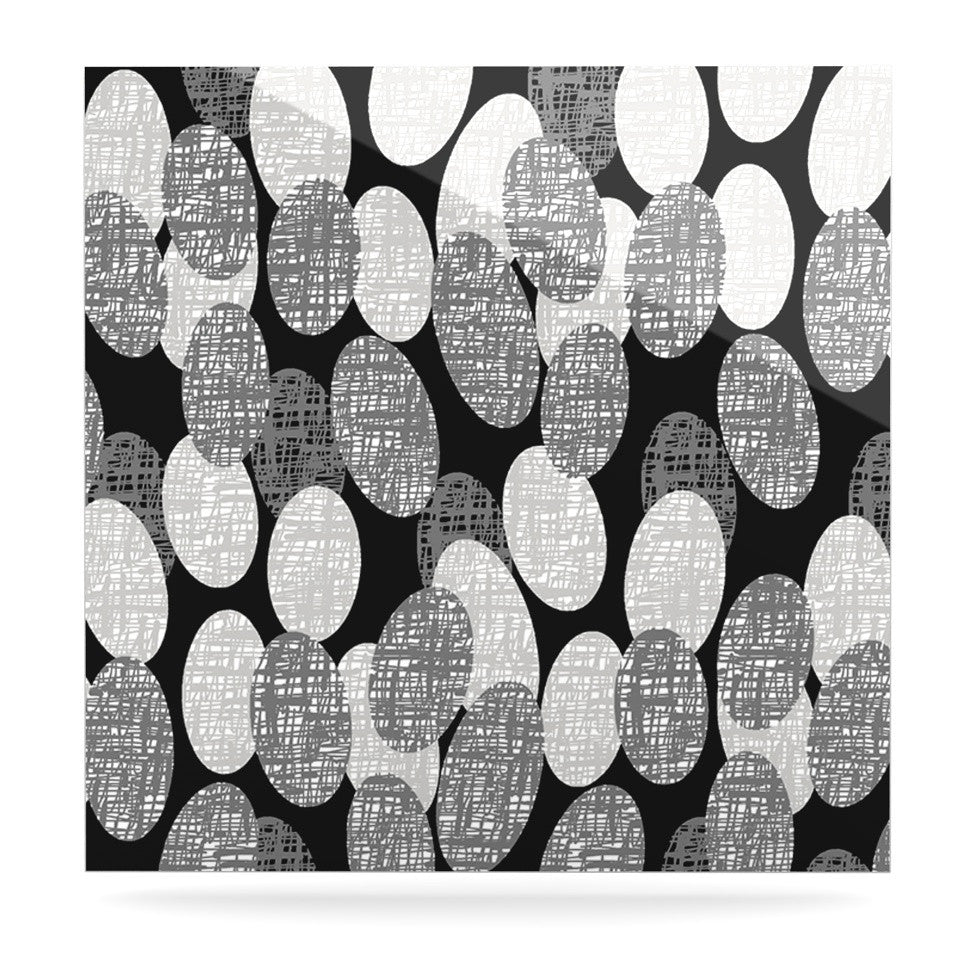 "Jacqueline Milton ""Seeds - Monochrome"" Black White Luxe Square Panel - KESS InHouse  - 1"