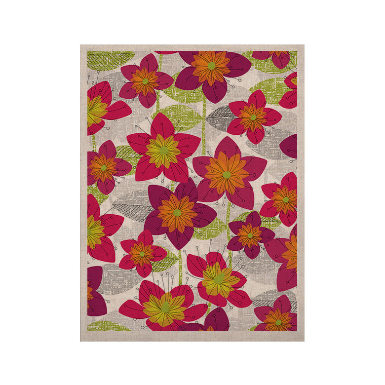 "Jacqueline Milton ""Star Flower"" Floral Pink KESS Naturals Canvas (Frame not Included) - KESS InHouse  - 1"
