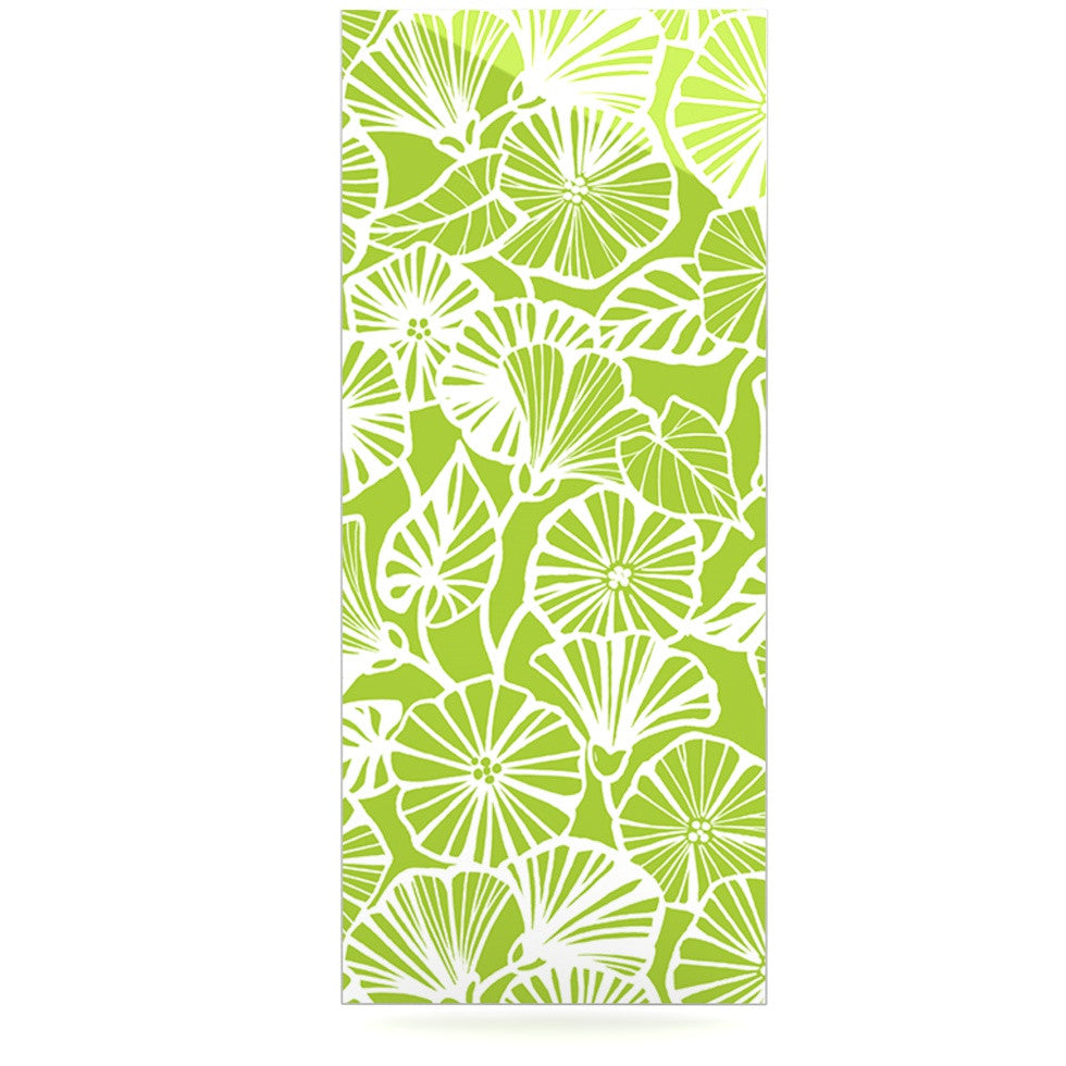 "Jacqueline Milton ""Vine Shadow - Lime"" Green Floral Luxe Rectangle Panel - KESS InHouse  - 1"