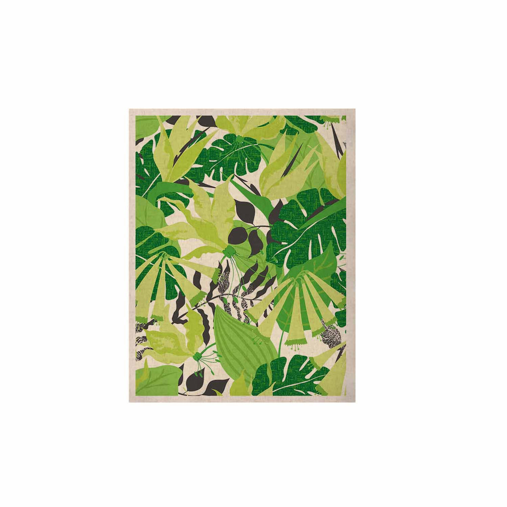 "Jacqueline Milton ""Tropicana - Green"" Lime White KESS Naturals Canvas (Frame not Included) - KESS InHouse  - 1"