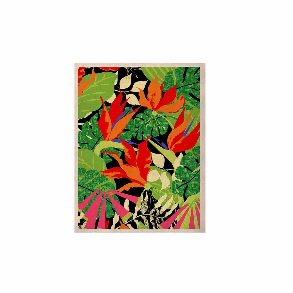 "Jacqueline Milton ""Tropicana - Hot"" Orange Green KESS Naturals Canvas (Frame not Included) - KESS InHouse  - 1"