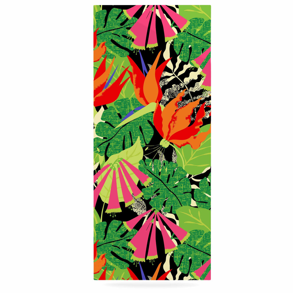 "Jacqueline Milton ""Tropicana - Hot"" Orange Green Luxe Rectangle Panel - KESS InHouse  - 1"