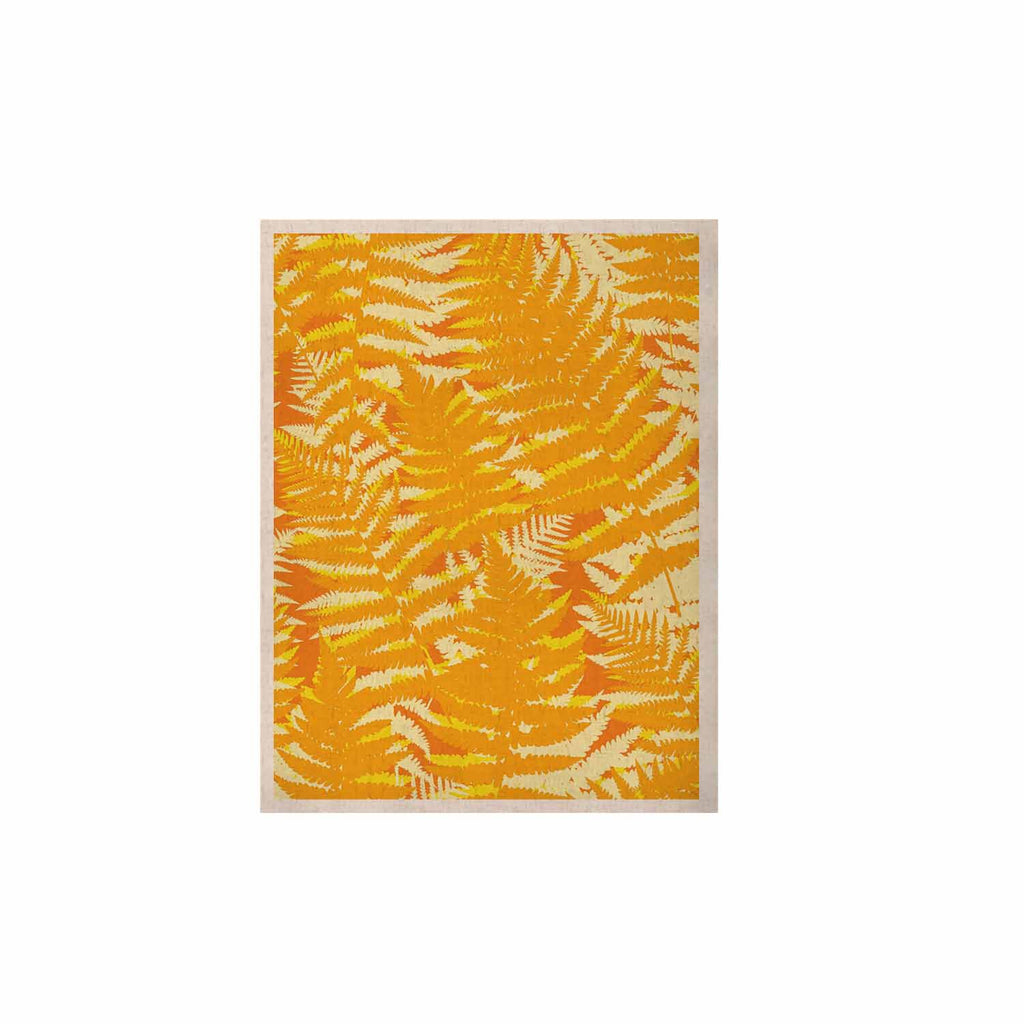 "Jacqueline Milton ""Fun Fern - Citrus"" Orange Gold KESS Naturals Canvas (Frame not Included) - KESS InHouse  - 1"