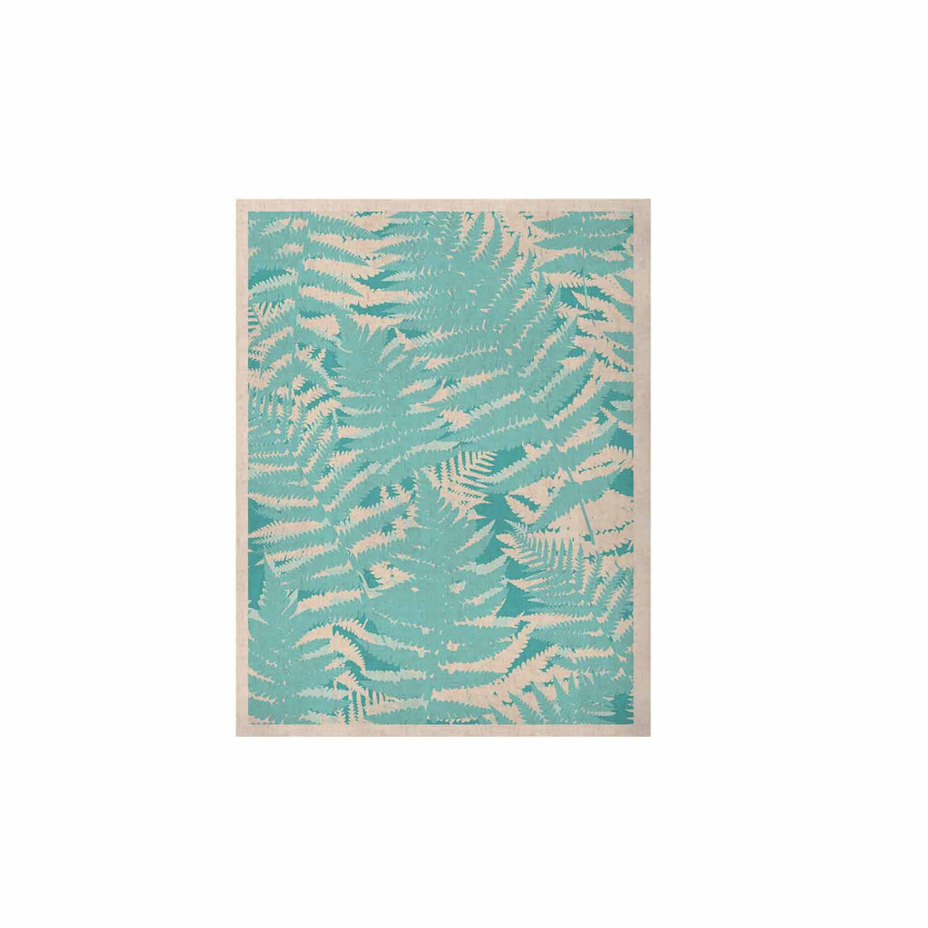 "Jacqueline Milton ""Fun Fern - Sky"" Blue Aqua KESS Naturals Canvas (Frame not Included) - KESS InHouse  - 1"