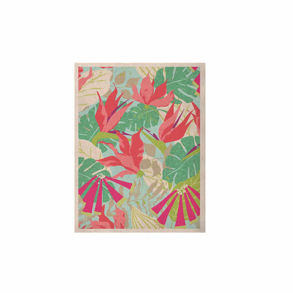 "Jacqueline Milton ""Tropicana - Sky"" Pink Green KESS Naturals Canvas (Frame not Included) - KESS InHouse  - 1"