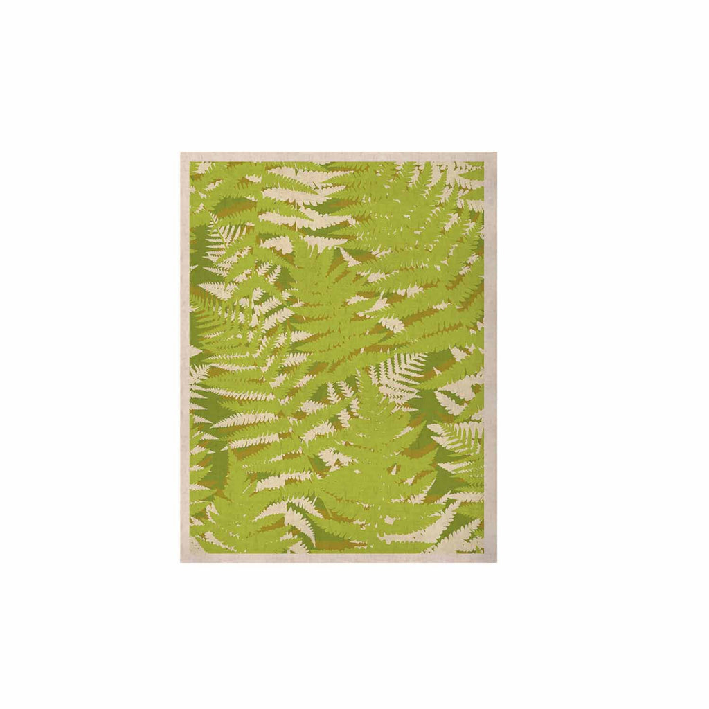 "Jacqueline Milton ""Fun Fern - Green"" Green Floral KESS Naturals Canvas (Frame not Included) - KESS InHouse  - 1"