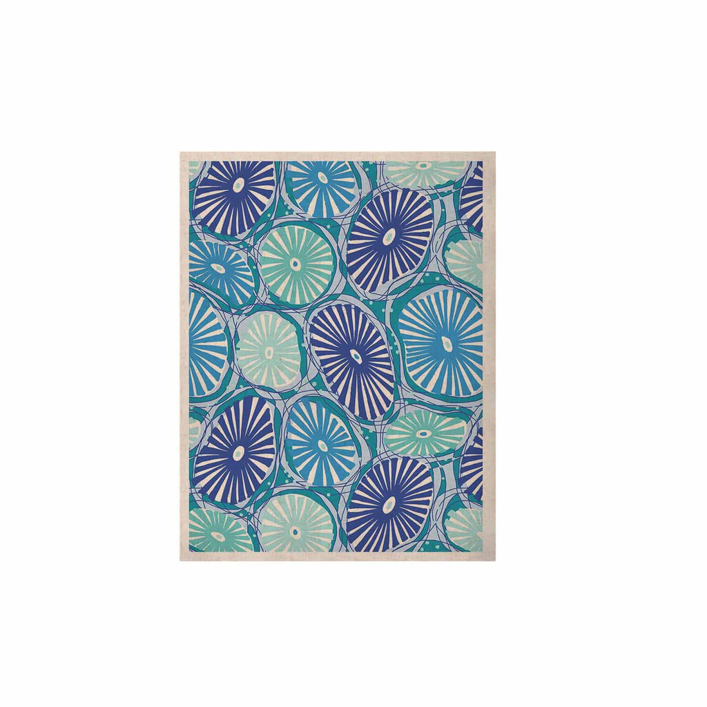 "Jacqueline Milton ""Sea Coral - Blue"" Blue Aqua KESS Naturals Canvas (Frame not Included) - KESS InHouse  - 1"