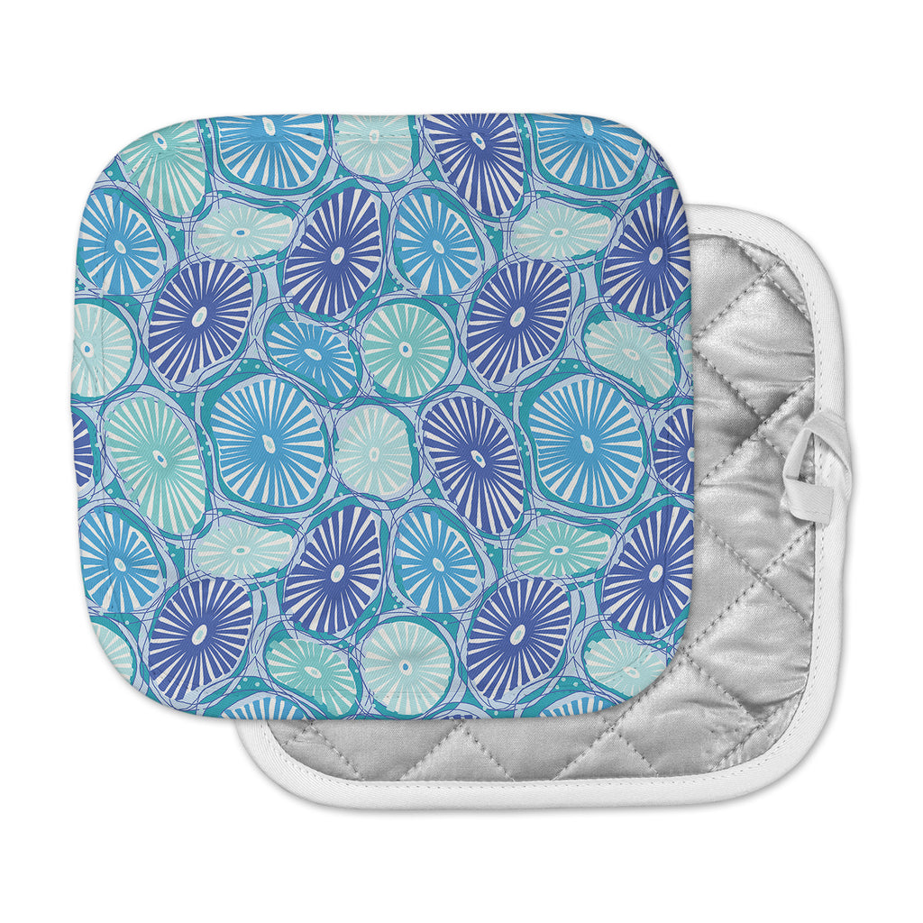 "Jacqueline Milton ""Sea Coral - Blue"" Blue Aqua Pot Holder"