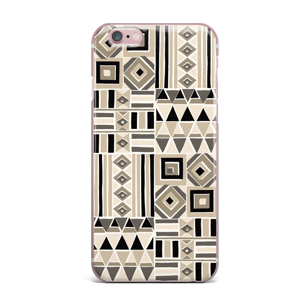 "Jacqueline Milton ""Heatwave - Latte"" Beige Brown Illustration iPhone Case - KESS InHouse"